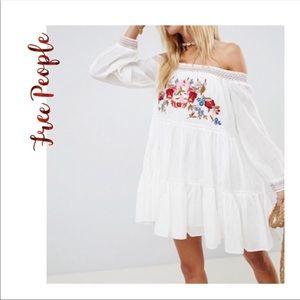 NWT Free People Sunbeam Embroidered Mini Dress